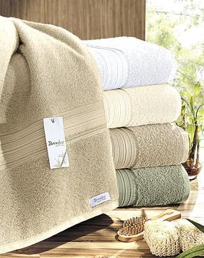 Toalha feita de fibra de bambu da Buettner: mais brilho e melhor absorção -