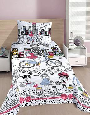 Cycle chic na linha de cama para meninas da marca Buettner -