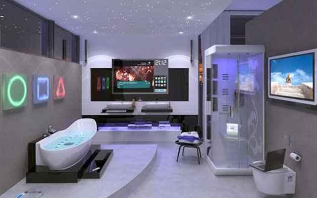 A tecnologia é o que mais chama atenção na decoração futurista - televisões de alta definição, computadores e iluminação LED estão presentes em praticamente todos os ambientes decorados com esse estilo - Reprodução/Internet
