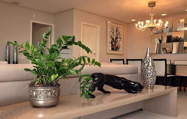 Um pouco de verde dentro do imóvel, segundo especialistas, ajuda a evitar o risco da monotonia quando se tem tons mais claros nos móveis e paredes - Eduardo de Almeida / RA Studio