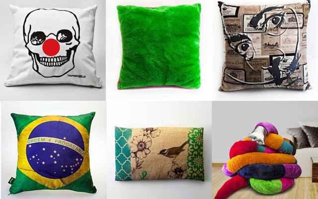 A loja virtual tem uma grande diversidade de almofadas e travesseiros, com preços que variam entre R$ 49,90 até R$200 - Divulgação