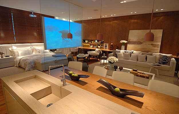 Loft da Decoradora, ambiente apresentado por Denise Vilela na Casa Cor MG, em 2011 - Alexandre Guszanche/EM/D.A Press