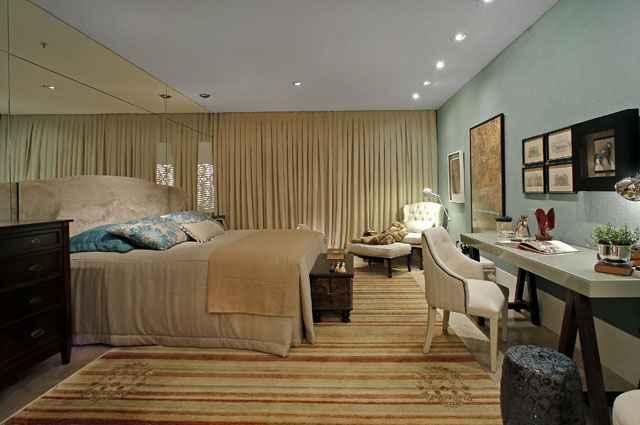 Arquiteta Silvana Andrade criou ambiente do quarto mais aconchegante com mantas e tapetes - Silvana Andrade/Divulgação