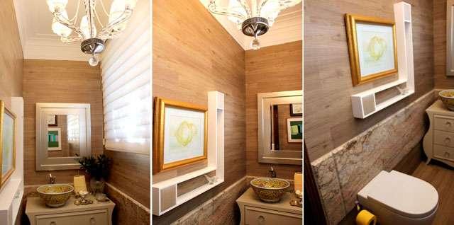 Padrões amadeirados estão em alta por proporcionarem sofisticação e luxo, reproduzindo tons e texturas de madeira - Divulgação/Ateliê Revestimentos