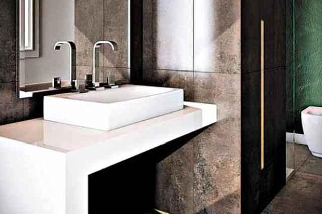 Formas finas e retas são características que ressaltam o design da Linha de Metais Next para banheiros - Divulgação/Deca