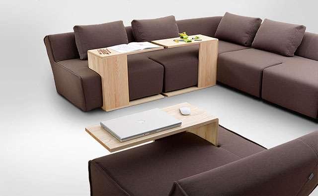 Linha constituída por módulos que, se combinados, formam um sofá despojado e confortável, além de possibilitar a utilização individual - Divulgação/Hocky