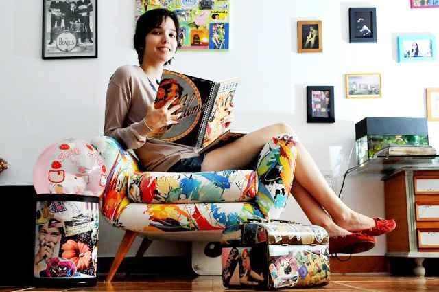 Desde pequena, a jovem Nathalia Braga customiza estofados, móveis e faz artesanatos em casa e decora o quarto ao próprio estilo - Marcelo Ferreira/CB/D.A Press