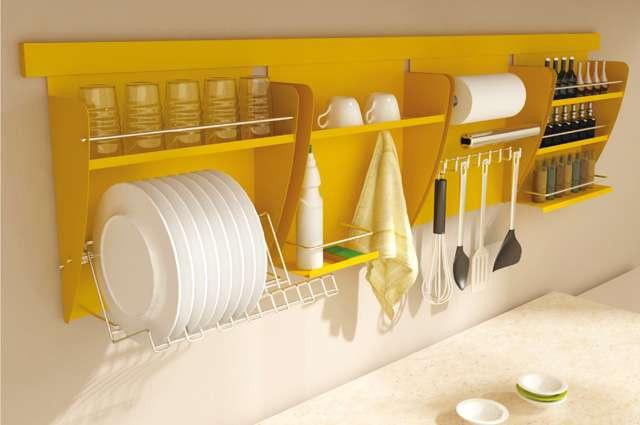 Nichos organizadores para cozinha podem solucionar a falta de espaço com praticidade na hora de acomodar utensílios domésticos - Divulgação/Masutti Copat