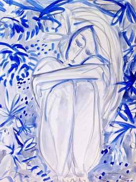 Trabalho na fase azul da artista - Cris Conde/Divulgação