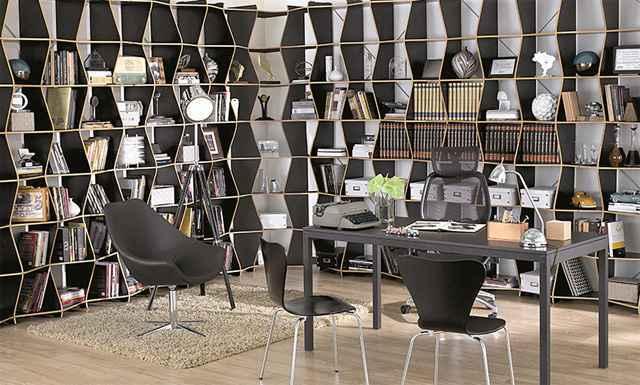 As linhas sinuosas proporcionam design e estilo para o ambiente, sendo uma boa opção para organizar corredores, halls, home offices e salas de estar - Divulgação/Tok&Stok