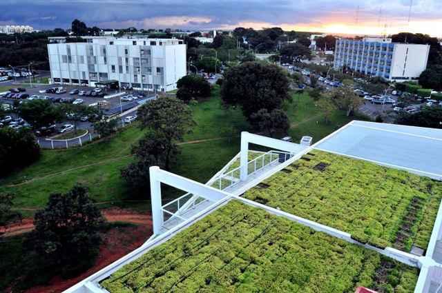 Fórum verde no Distrito Federal é um modelo de projetos em construção civil com foco na sustentabilidade - Antônio Cunha/CB/D.A Press