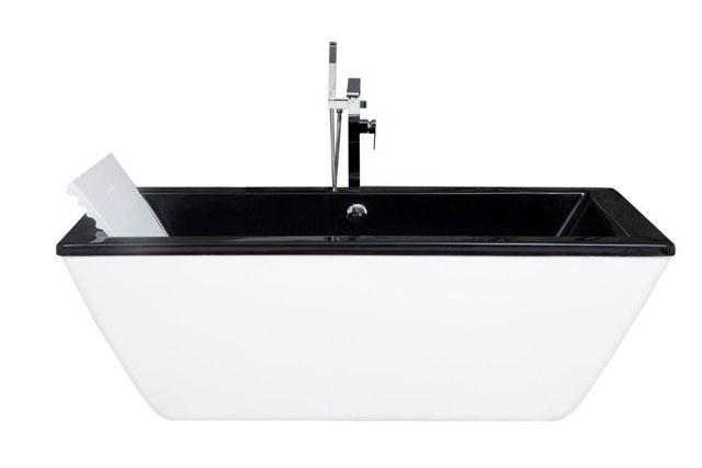 Opção bicolor das banheiras Freestanding trazem linhas retas e design contemporâneo, em peças esbanjam sofisticação ao combinar o preto e branco - Pretty Jet/Divulgação