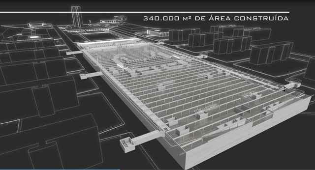 Por se tratar de PPP o acesso ao estacionamento seria cobrado, mas o andamento do suntuoso projeto está parado - Divulgação/Ascom GDF - 31/01/2013