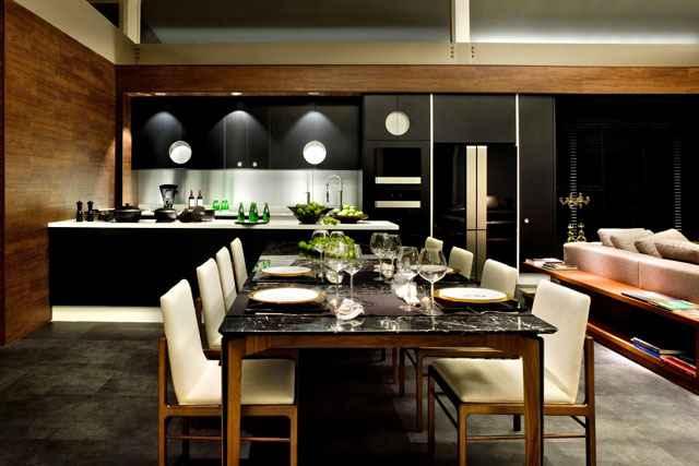 O espaço lounge do estar é uma composição de módulos criando um canto descontraído para sentar de forma criativa entre amigos - Edgard César/Divulgação