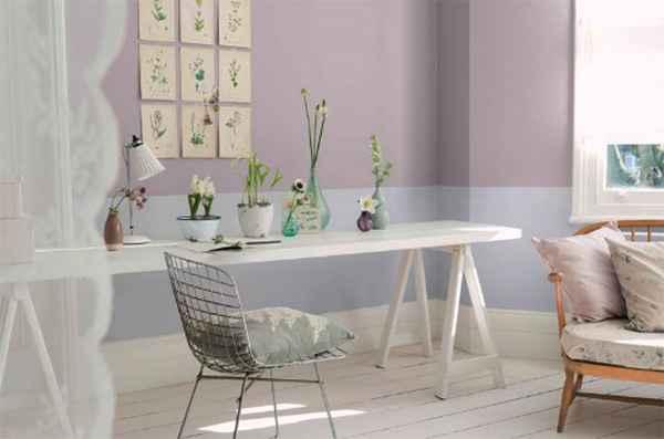 Cores suaves e enevoadas são ideais para decorar as paredes das mães mais clássicas, que prezam pela simplicidade das nuances neutras - Divulgação/Tintas Coral