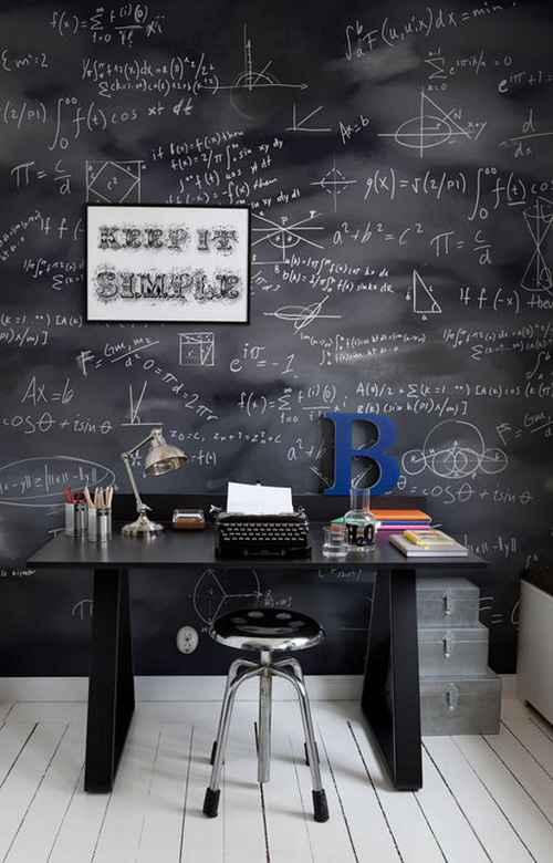 Parede com tinta de quadro negro pode ajudar a organizar as tarefas - Reprodução/Internet