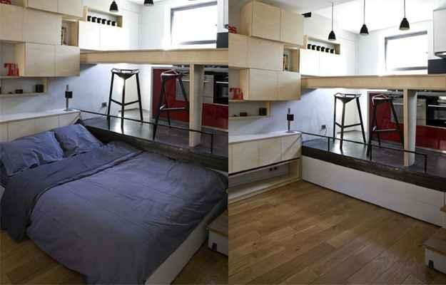 Apartamento de 16 metros quadrados em Paris, na França - Divulgação/LifeEdited