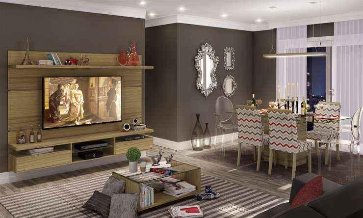 Uma paleta de cores sóbria ajuda a harmonizar elementos clássicos e rústicos na decoração - LojasKD/Divulgação