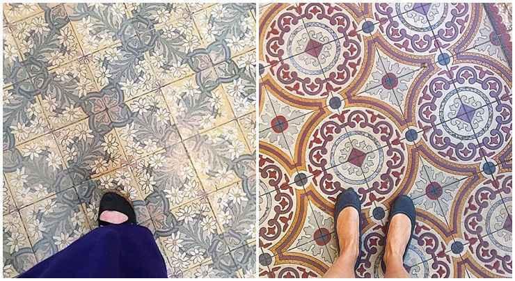 <b>À esquerda:</b> o chão do Museu Nacional de Belas Artes, no centro histórico do Rio de Janeiro. <b>À direita:</b> o piso da Casa Una Centro de Cultura, que funciona em um casarão histórico do tradicional bairro de Lourdes, em Belo Horizonte - Chão que eu piso/Divulgação