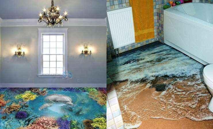 Pisos 3d l quidos inovam interiores lugar certo for Pisos decorativos 3d