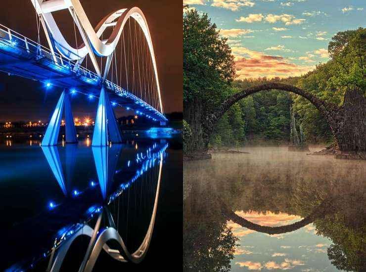 Ponte do Infinito (Inglaterra) /  Rakotz Brücke (Alemanha) - Reprodução / Internet