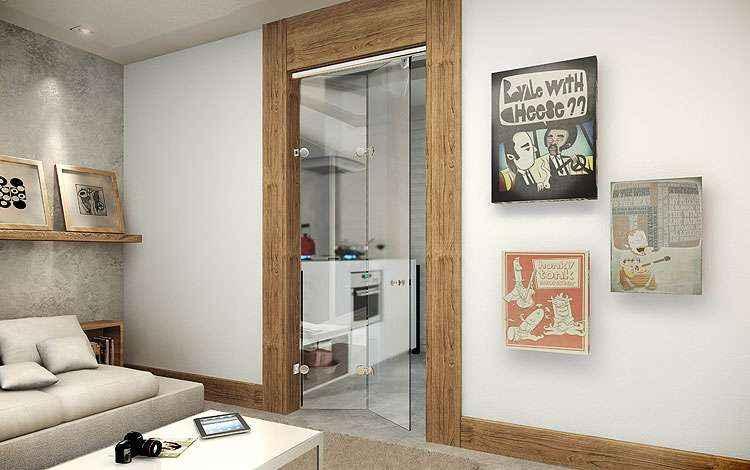 Além da funcionalidade, a porta flex traz leveza e pode ser encontrada nos modelos frontal, duas portas e lateral - Idea Glass/Divulgação