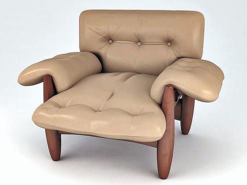 Poltrona Mole, criação do arquiteto e designer brasileiro Sérgio Rodrigues, em 1957. Uma de suas peças mais famosas  - Divulgação