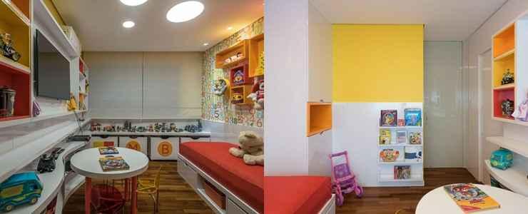 O quarto infantil foi projetado nos moldes montessoriano. Todos os móveis e objetos são colocados mais baixos para que a criança tenha acesso e seja mais independente - Daniel Mansur/Divulgação