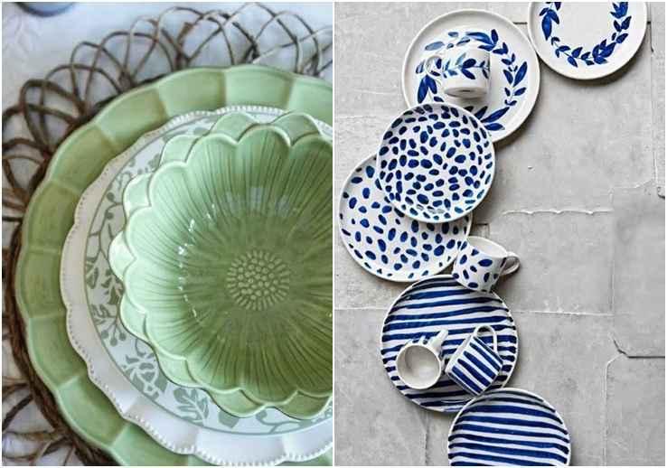Combine as cores e os tons, eles unificam as louças que aparentemente são avulsas. - Reprodução Pinterest