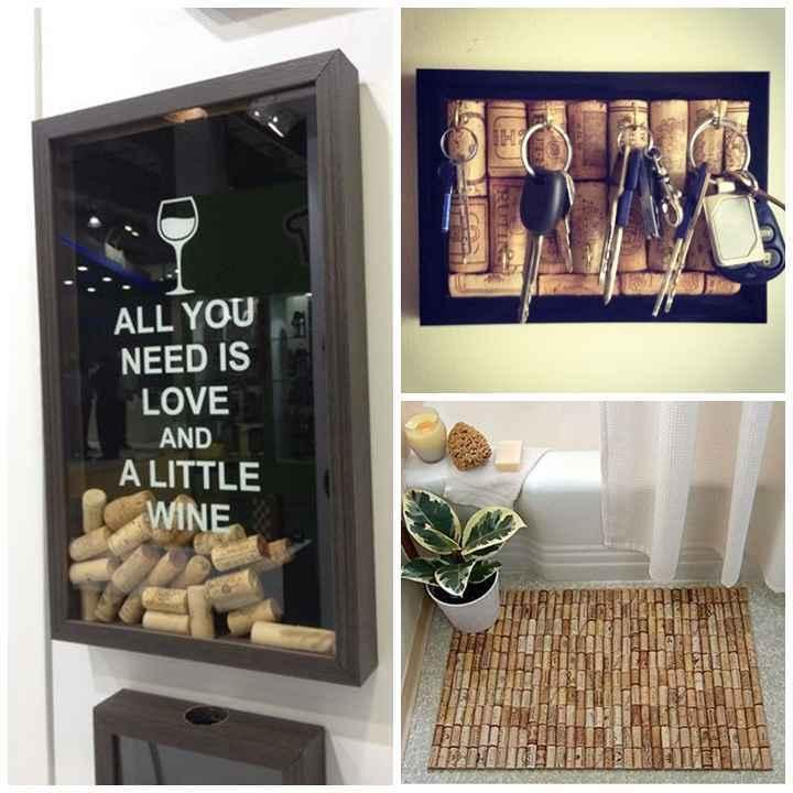 Para os amantes de vinho, as rolhas podem fazer parte de um quadro interativo, um tapete ou um porta-chaves. O que vale aqui é a imaginação. Fácil de ser trabalhada, é um elemento que pode dar um toque de personalidade ao seu espaço - Reprodução Pinterest