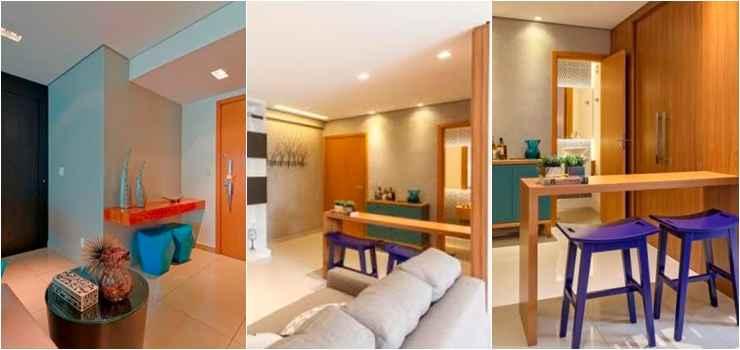 No pequeno espaço de transição da área intima para as salas, a arquiteta Carmen Calixto criou mais um ambiente social para os moradores da residência   - Henrique Queiroga