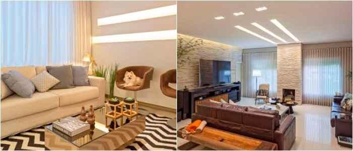 A arquiteta Carmen Calixto optou por trabalhar com rasgos de luz nesta sala, o que proporcionou um charme extra ao ambiente - Henrique Queiroga
